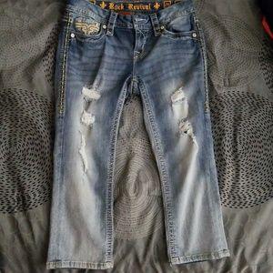 Rock Revival Vivian Crop Jeans
